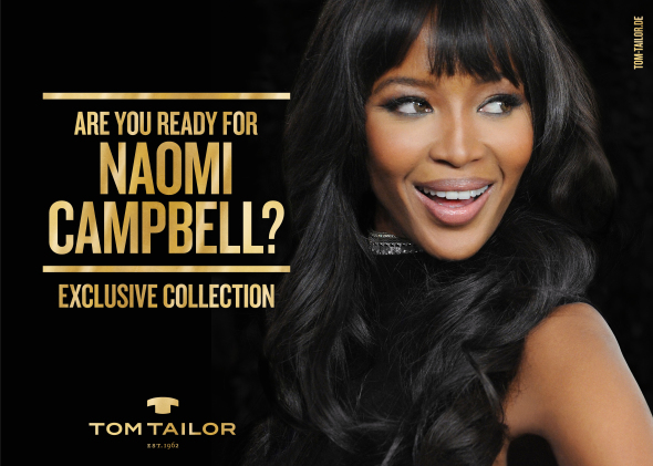 image: Boldness and glamour by Tom Tailor and Naomi Campbell