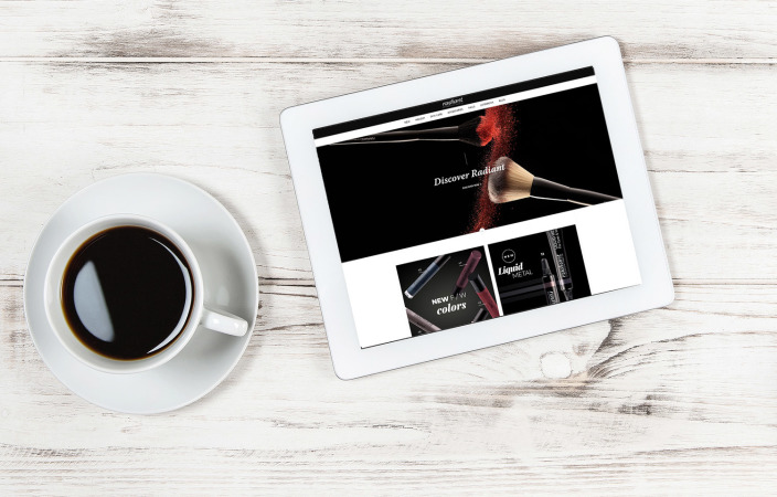 Picture: Radiant Professional Make Up with a new website