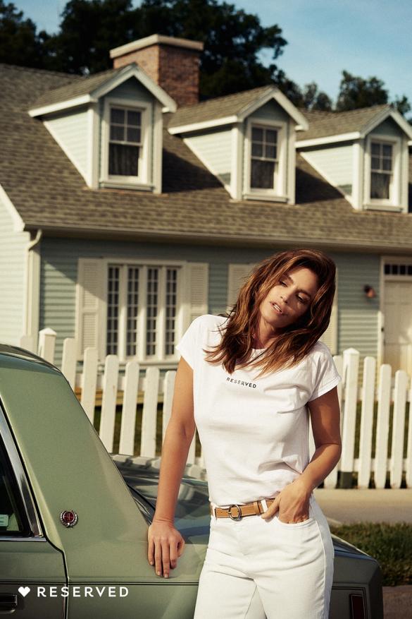 """снимка: Синди Крауфорд лице на """"I love you Cindy"""" от Reserved"""