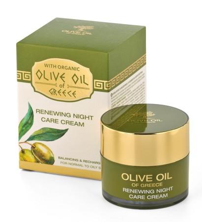"""снимка: Обновяващ нощен крем за нормална към мазна кожа """"Olive Oil of Greece"""""""