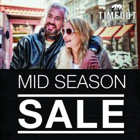 """Снимка: TIMEOUT стартира  """"MID SEASON SALE""""  на определени модели от колекция Есен-Зима 2019"""
