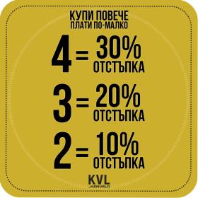"""Снимка: Уикенд промоция """"Купи повече – Плати по-малко"""" в KVL by Kenvelo"""