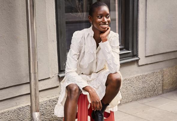 image: H&M Fall Fashion представя красотата на рециклираните материи